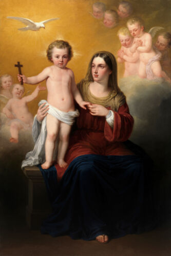 Canvas Print Virgin Mary and Jesus Oil painting printed on canvas L728