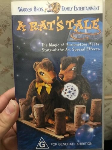 A Rat's Tale VHS TAPE (1997 kids / children's puppet family movie) VERY RARE