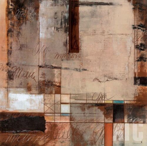 """HISTORY OF WORDS I (27""""x27"""") and II (27""""x27"""") SET by JOEL GIOVANNI - 2PC CANVAS"""