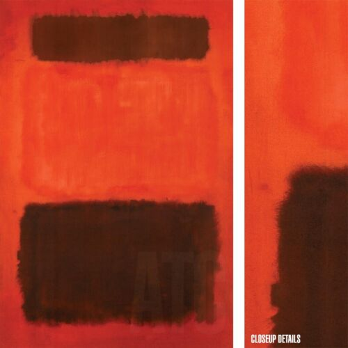 """21""""x32"""" BROWN AND BLACK IN REDS by MARK ROTHKO Repro CANVAS"""