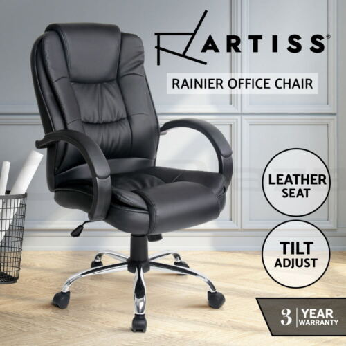 New Executive Premium PU Faux Leather Office Computer Chair Black 27 <br/> 20% off with code PRO20. Ends 22 Jan. T&amp;Cs apply.