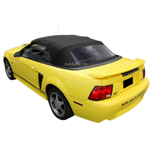 Ford Mustang Convertible Top Replacement &amp; Plastic Window 1994-2004 Black  <br/> 6 Year Warranty | 30 Day Money Back | Factory Material