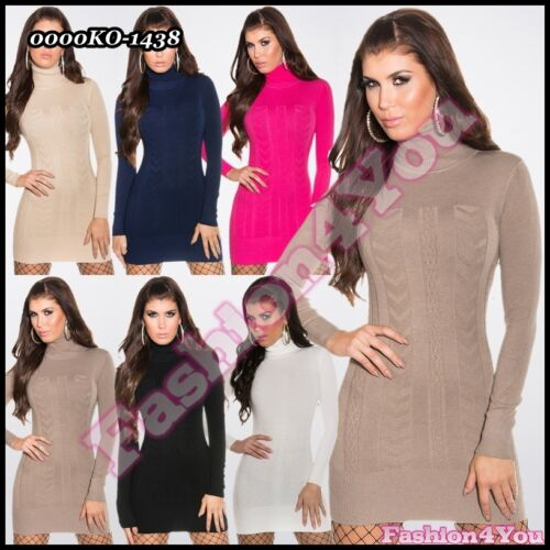 Ladies Jumper Dress Womens Sexy Casual Long Pullover ONE SIZE 6,8,10,12 UK New