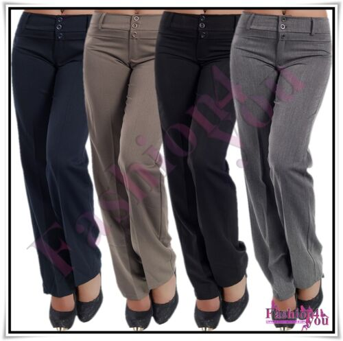 Sexy Women's Office Pants Ladies Classic Trousers Size 6,8,10,12,14,16,18 UK