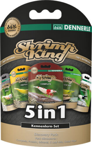 Shrimp King Food - 5 in 1 Discovery Pack - for Cherry Crystal Tiger Shrimp