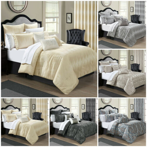 Luxury Bedspread 3Piece Jacquard Quilted BedSpread; Comforter Set Double &amp; King <br/> Matching Curtains Available Item no 262444949634