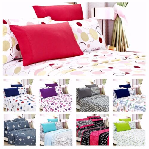 Egyptian Comfort 1800 Count 6 Piece Printed Bed Sheet Set Deep Pocket <br/> EXTRA 10% OFF FOR BUYING 2 OR MORE