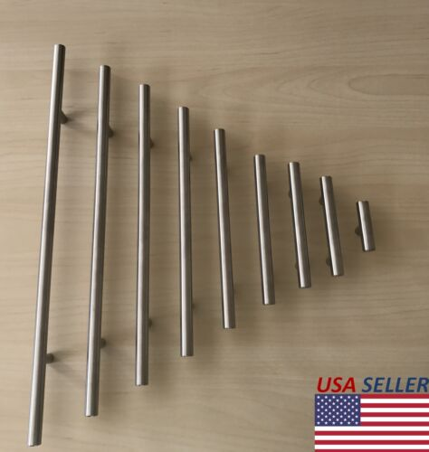 Stainless Steel T bar Modern Kitchen Cabinet Door Handles Drawer Pulls Knobs Lot <br/> Contractor price! FREE SHIPPING! 1-3 Days Delivery!
