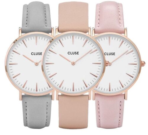 Women Men Luxury Quartz Analog Watch Gold Leather Band Wrist Watches Casual <br/> Aussie Owned &amp; Dispatched