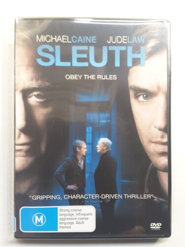 Sleuth DVD-Jude Law-Michael Caine-PSYCHOLOGICAL THRILLER MOVIE - REG 4