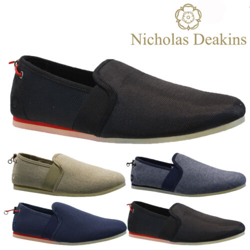 MENS NICHOLAS DEAKINS SLIP ON TRAINERS CANVAS SKATES PUMPS SHOES PLIMSOLLS SIZE <br/> SPECIAL OFFER***ONE WEEK ONLY***RRP &pound;29.95