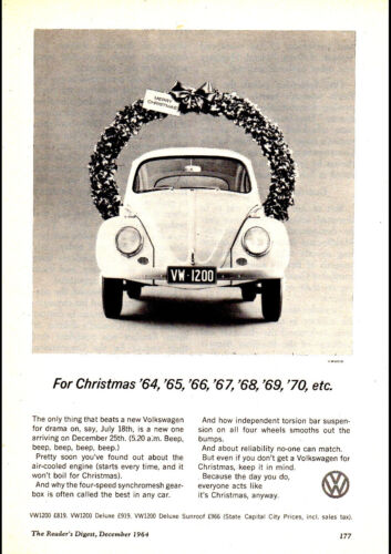 """1963 VOLKSWAGEN VW BEETLE 1200 AD A1 CANVAS PRINT POSTER FRAMED 33.1""""x23.4"""""""