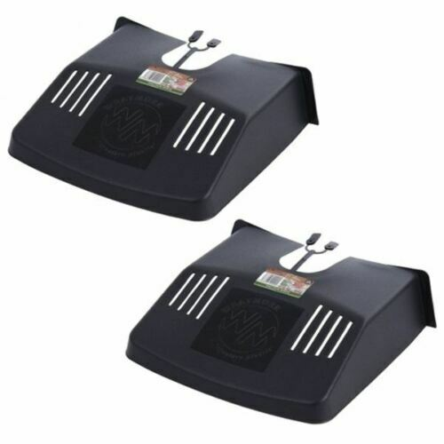 2 x DRAIN TIDY DRAIN COVER WITH FITTINGS BLACK PLASTIC OUTDOOR LEAF GUARD GUTTER