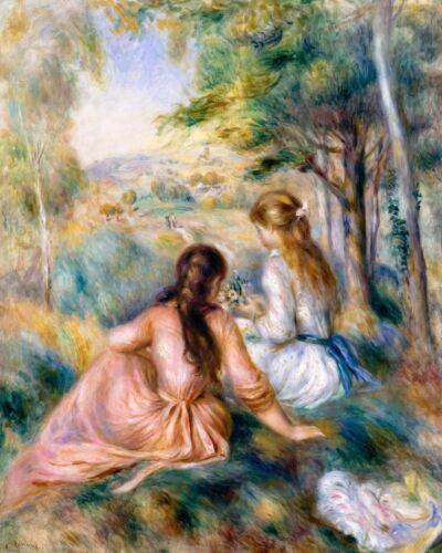 Renoir 1888, In the Meadow, Fade Resistant HD Art Print or Canvas