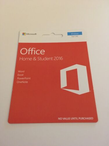Microsoft Office 2016 Home and Student Full Version, Windows For 1 PC, Free Ship