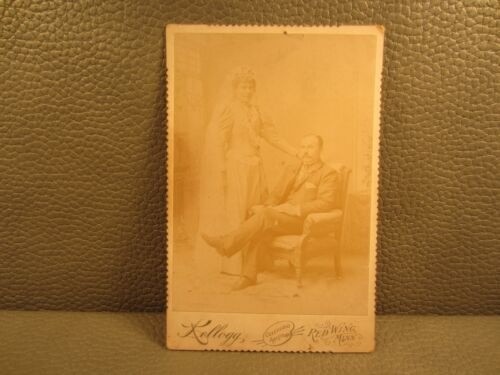 Victorian Antique Cabinet Card Wedding Photo of Young Couple