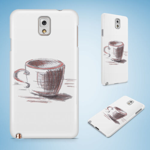 COFFEE LATTE SKETCH DRAWING #2 CASE FOR SAMSUNG GALAXY NOTE 2 3 4 5 8 EDGE