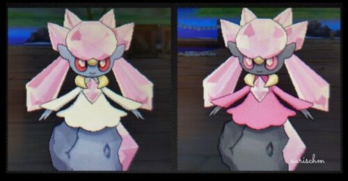 Pokemon shiny or not legendary Diancie 6IVs Ultra Sun Moon game trade