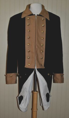 Revolutionary War Continental Army Frock Blue w/Tan Collar - Size 48Reenactment & Reproductions - 156378