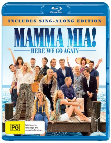 Mamma Mia Here We Go Again with Digital Download Blu-ray Region B NEW