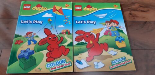 2 x New LEGO Duplo Let's Play, Colour and Have Fun! Activity and Colouring Books