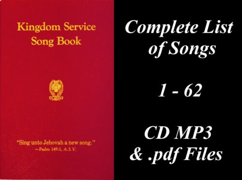 1944 Red Kingdom Service Songbook - CD MP3 Watchtower JW Jehovah Complete List