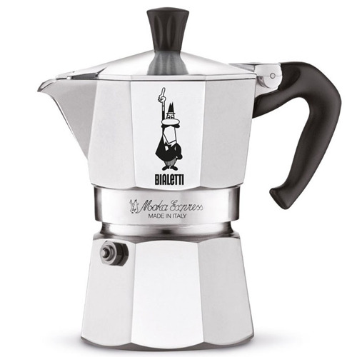BIALETTI Moka Express 1 tazza Caffettiera Mokka Coffee Maker Miniexpress