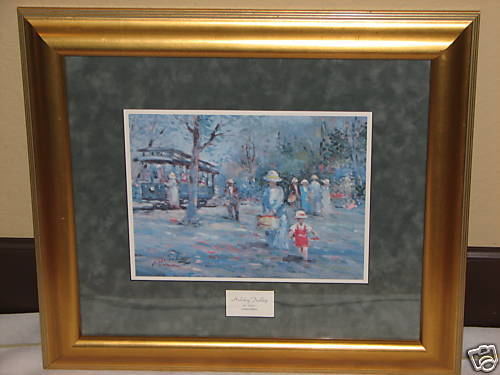 Holiday Trolley Limited Edition Signed Print, Framed