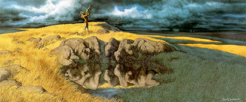 """""""Calling the Buffalo"""" Bev Doolittle Signed Limited Edition Lithograph (Framed)"""