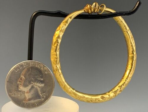 HUGE ANCIENT ROMAN GOLD TAPERED EARRING / BRACELET! 100 B.C. - 200 A.D. RARE!<br/>Roman - 37907