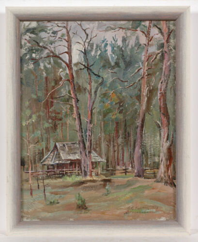 """Vasili Karkots (b.1926), """"Forest in Lithuania"""", Oil Painting, 1988"""