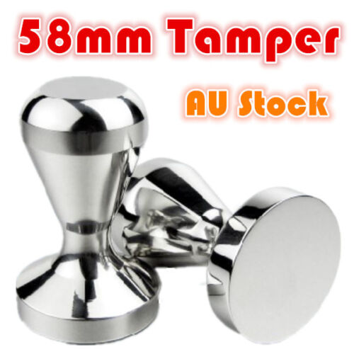 Coffee Tamper 58mm 650g Stainless Steel Polished Tampa Tamp Espresso Barista NEW