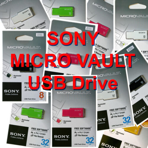 SONY MICROVAULT TINY 8 GB 16 GB 32 GB 8G 16G 32G USB FLASH DRIVE