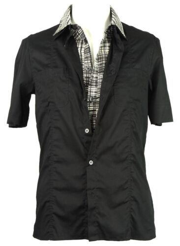 Cavalli Class shirt with cotton under layer black