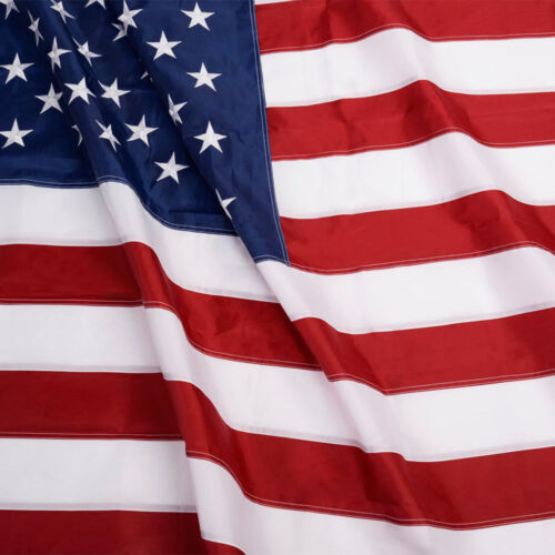 5&#039;x8&#039; FT American Flag USA US U.S. Sewn Stripes Embroidered Stars Brass Grommets <br/> Double Stitching Premium Polyester NOT Cheap Plastic