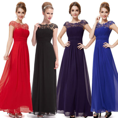 UK Long Formal Evening Prom Party Dress Bridesmaid Dresses Ball Gown Cocktail  <br/> Over 500 Sold, FREE NX Day Delivery, UK Seller,RRP &pound;150