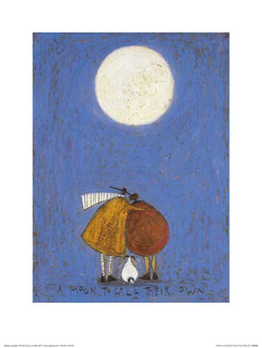 Sam Toft A Moon to Call Their Own Contemporary Humor Print Poster 11.75x15.75