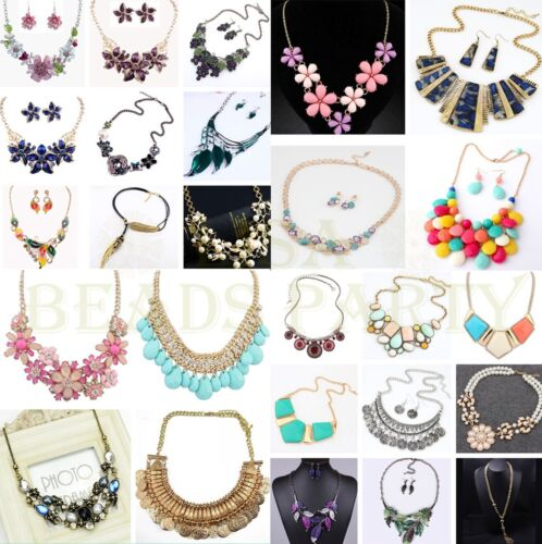Hot Fashion Jewelry Pendant Charms Choker Chunky Statement Chain Bib Necklace