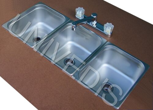 NEW CONCESSION  STAND Trailer three 3 COMPARTMENT Sink