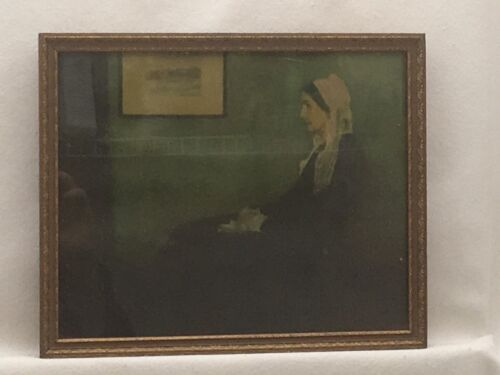Vintage Art DEco Style Picture Frame w Print of Whistler&#039;s Mother<br/>Picture Frames - 40024