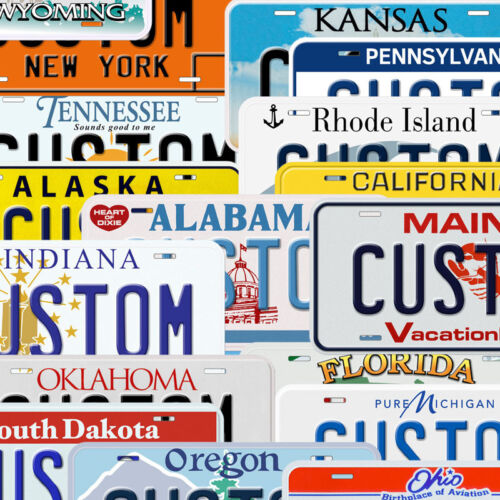USA State Custom Aluminum Any Name Text Number Novelty Car License Plate