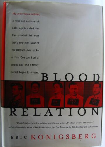 #ST4,, Eric Konigsberg BLOOD RELATION, HC GC 1st ed