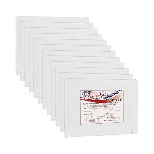 Blank Cotton Canvas Panels 12 Pack Craft Art Boards Paint Supplies
