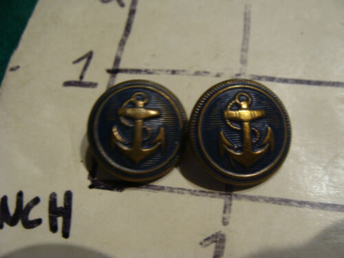 Vintage Button/s: 2 Navy Anchor buttons, unmarked back