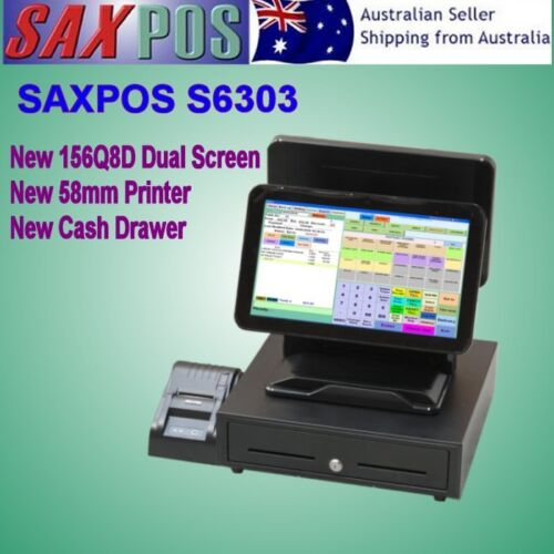 SAXPOS 156Q8D Dual Display Touch Terminal All-in-One Point of Sale (POS) System