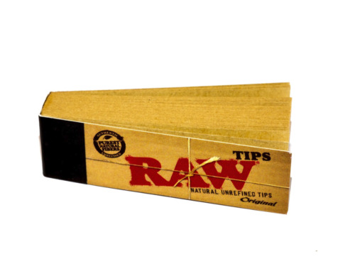 RAW Original Tips Natural Rolling Paper Filter Smoking Tobacco 50 Tip Booklets