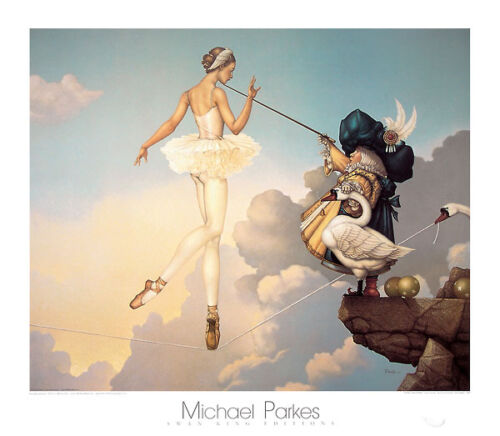 Michael Parkes Leda's Daughter Fantasy Magical Weird Odd Print Poster 31.5x27.5