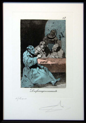 "Salvador Dali ""Caprices De Goya"" Complete 80 piece Art Suite $508,000 Authentic"