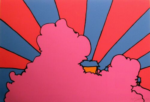"Peter Max ""House in the Clouds"" Signed Numbered Serigraph pop art MAKE OFFER!"