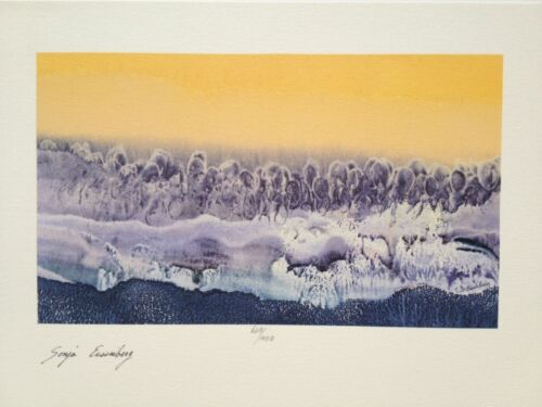 Sonja Eisenberg Hand Signed Art Lithograph, (Also Have One With Stamp)
